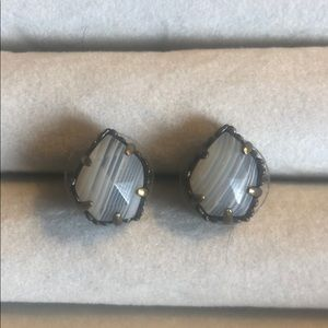 Kendra Scott Tessa Earrings in White Banded Agate